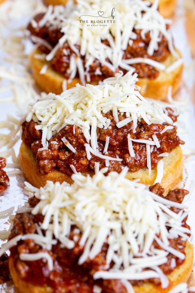 Texas Toast Sloppy Joes with cheese on top