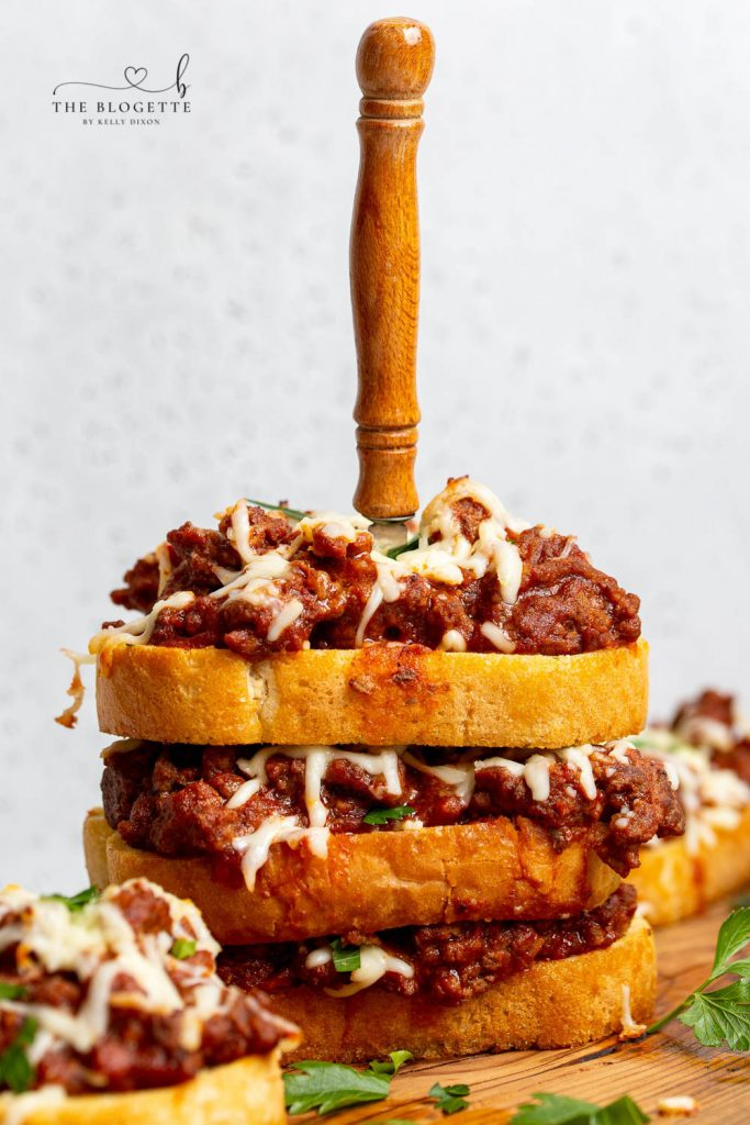 The BEST Texas Toast Sloppy Joes made with garlic bread and cheese