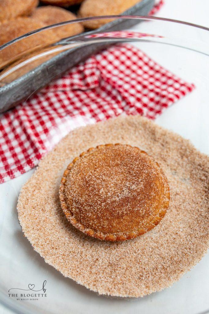 Uncrustable Donuts in Cinnamon Sugar