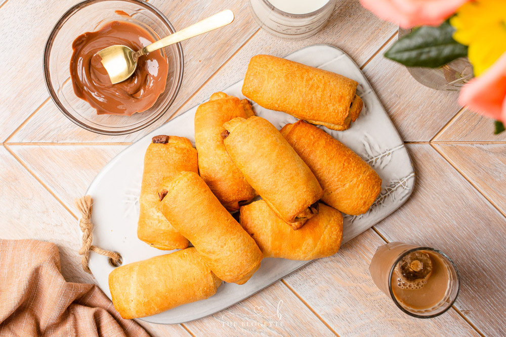 Crescent Rolls filled with Chocolate