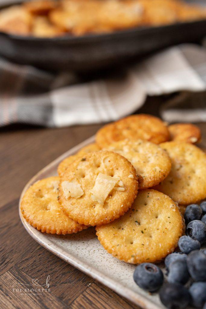 Seasoned Ritz Crackers with Ranch