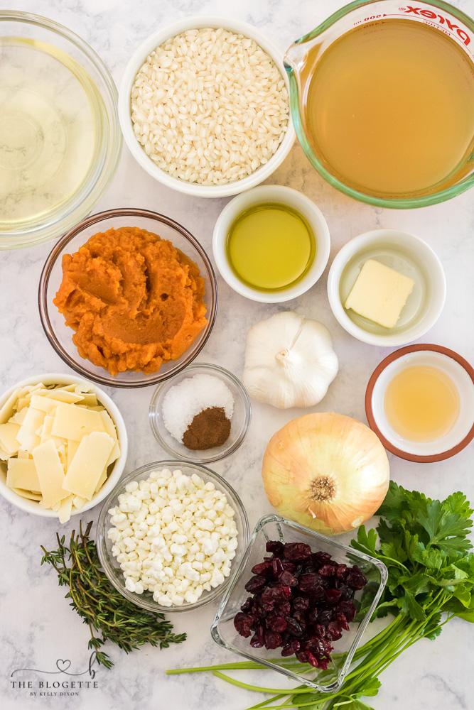 Pumpkin Risotto Ingredients
